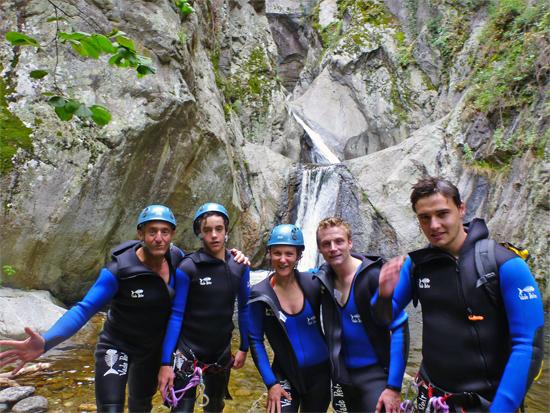 Le canyoning au village de Prades