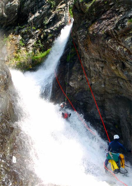canyoning dans le massif du Canigou