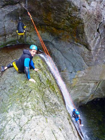 La plus grande descente de canyoning du Llech