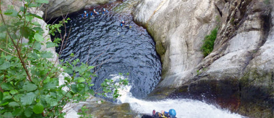 Descente de canyoning a Ceret